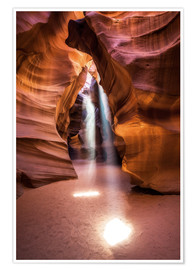 Poster  Beams im Upper Antelope Canyon - Andreas Wonisch