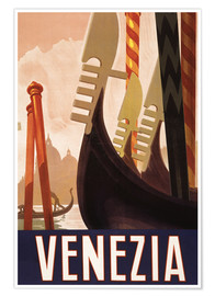 Premium-Poster  Venezia - Travel Collection