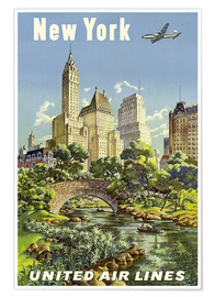 Premium-Poster New York United Airlines