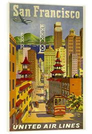 Acrylglas  San Francisco United Airlines