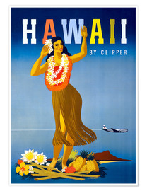 Premium-Poster  Hawaii von Clipper Vintage Reisen - Travel Collection