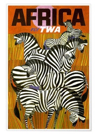 Premium-Poster Africa Fly TWA