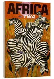 Holzbild  Africa Fly TWA - Travel Collection