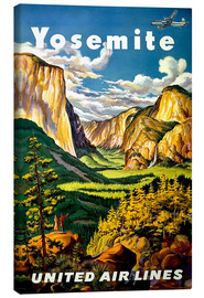 Leinwandbild  Yosemite United Air Lines - Travel Collection