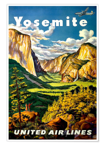Premium-Poster Yosemite United Air Lines