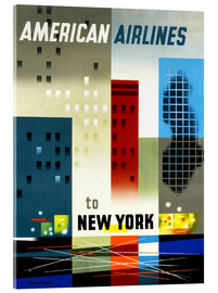 Acrylglas  American Airlines to New York