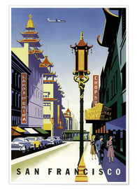 Poster  United Air Lines San Francisco