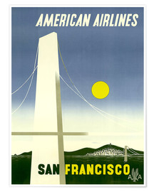 Premium-Poster  American Airlines San Francisco - Travel Collection