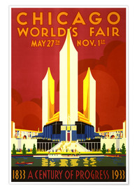 Premium-Poster  Chicago-Weltmesse - Travel Collection