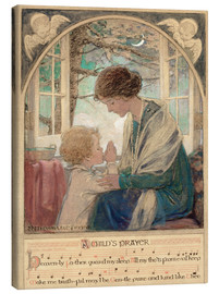 Leinwandbild  Ein betendes Kind - Jessie Willcox Smith