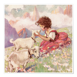 Premium-Poster  Heidi - Jessie Willcox Smith