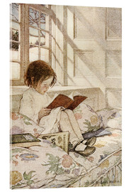 Acrylglasbild  Bilderbücher im Winter - Jessie Willcox Smith