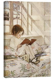 Leinwandbild  Bilderbücher im Winter - Jessie Willcox Smith