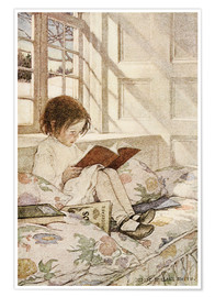 Premium-Poster  Bilderbücher im Winter - Jessie Willcox Smith