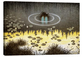 Leinwandbild  Nøkken, The Monster of the Lake - Theodor Kittelsen