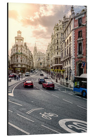 Alubild  Gran Via in Madrid - Stefan Becker