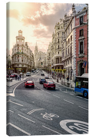 Leinwandbild  Gran Via in Madrid - Stefan Becker