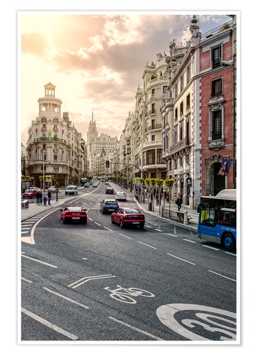 Premium-Poster Gran Via in Madrid