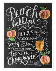 Poster  Peach-Bellini-Rezept - Lily & Val
