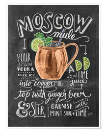 Premium-Poster  Moscow Mule Rezept (Englisch) - Lily & Val