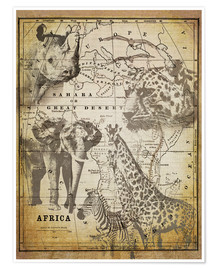 Premium-Poster  The Spirit of Africa - Andrea Haase