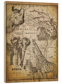 Holzbild  The Spirit of Africa - Andrea Haase