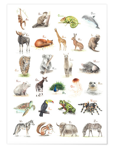 Poster ABC Tiere