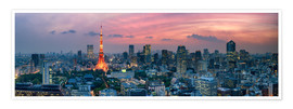 Premium-Poster  Tokio Skyline - Jan Christopher Becke