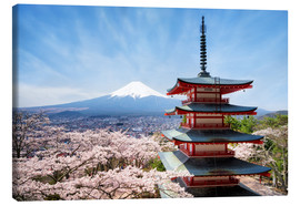 Leinwandbild  Chureito Pagoda in Yamanashi Japan - Jan Christopher Becke