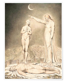 Premium-Poster  Die Erschaffung Evas - William Blake