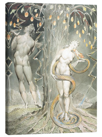 Leinwandbild  Adam und Eva - William Blake
