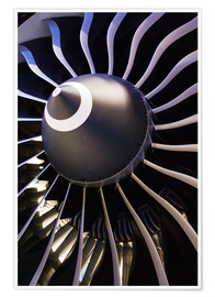 Poster  Flugzeugturbine - Mark Williamson