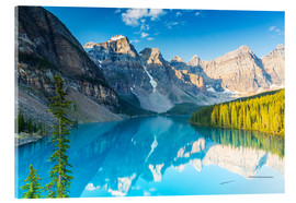 Acrylglasbild  Moraine Lake in den Rocky Mountains - Kanada - rclassen