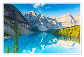 Premium-Poster Moraine Lake in den Rocky Mountains - Kanada