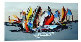 Acrylglas  Abstract sailing - Theheartofart Gena