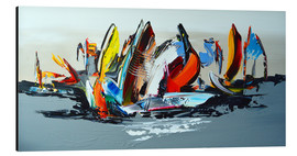 Alubild  Abstract sailing - Theheartofart Gena
