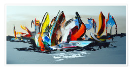 Premium-Poster  Abstract sailing - Theheartofart Gena