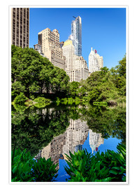 Premium-Poster  New York City - Central Park (the Pond) - Sascha Kilmer