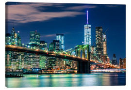 Leinwandbild  New Yorker Skyline und Brooklyn Bridge - Sascha Kilmer