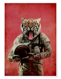 Premium-Poster  Space tiger - Durro Art