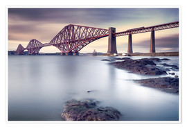 Premium-Poster  Forth Rail Bridge - Martin Vlasko