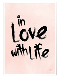 Premium-Poster  in love with life - m.belle