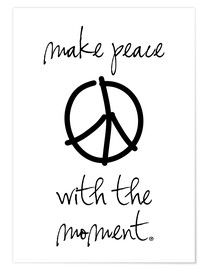 Premium-Poster  make peace - m.belle