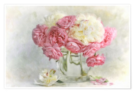 Premium-Poster  roses and peonies - Lizzy Pe