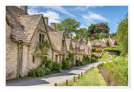 Premium-Poster Arlington Row in Bibury, Cotswolds, Gloucestershire (England)