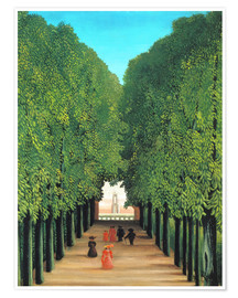 Poster  Parkallee in Saint-Cloud - Henri Rousseau