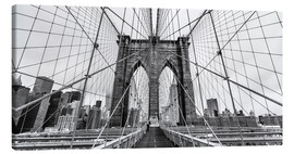 Leinwandbild  Brooklyn Bridge, New York City (monochrom) - Sascha Kilmer