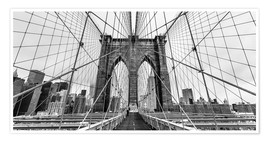 Premium-Poster Brooklyn Bridge, New York City (monochrom)