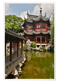 Premium-Poster  Shanghai, China Yu Garden and oriental styled buildings. - Darrell Gulin