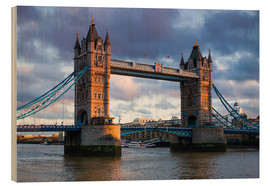 Holzbild  Tower Bridge in London - Walter Bibikow